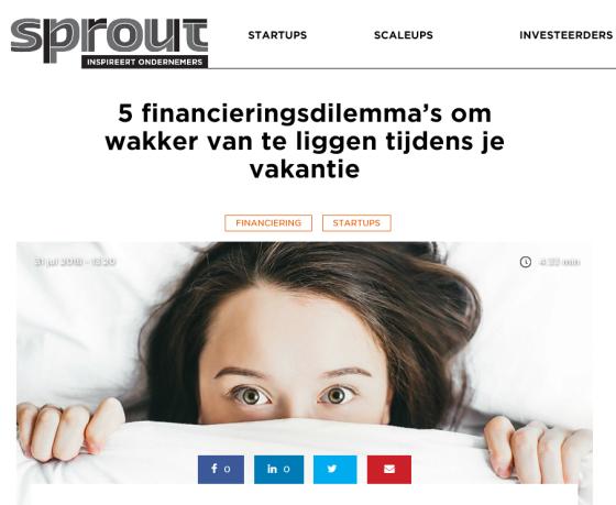 financiering startup mkb dilemma